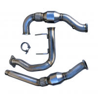 2017 - 2020 Ford F150 Raptor 3.5L HO 304SS Catted Downpipes, with built-in Turbo Adapters