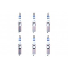 Ford Motorcraft SP542 Iridium Spark Plugs, Complete Set (6pcs) Gapped .028""